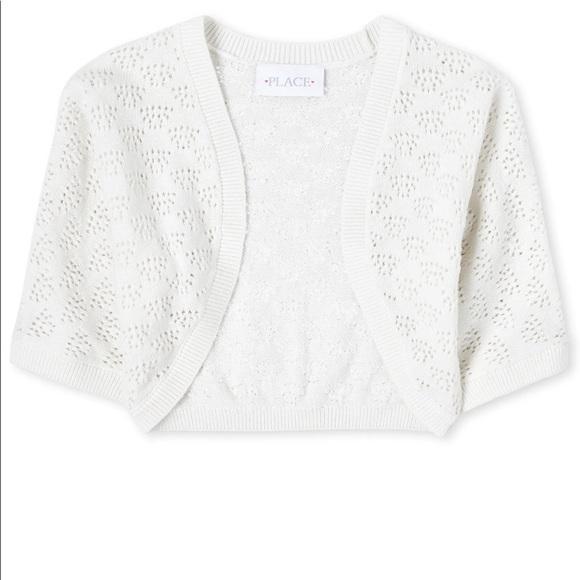 4- Simply white Girls Sweater Shrug